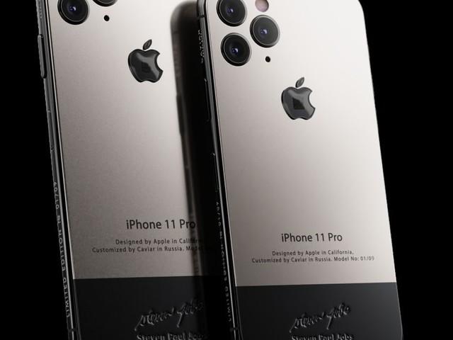 Caviar dévoile une édition d'iPhone 11 Pro contenant un bout du col roulé de Steve Jobs !