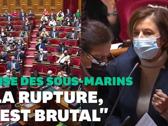 Crise des sous-marins: Parly copieusement huée au Sénat