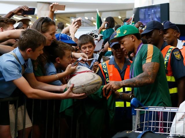 Rugby - Coupe du monde 2019 - Les Springboks champions du monde accueillis en héros à Johannesburg