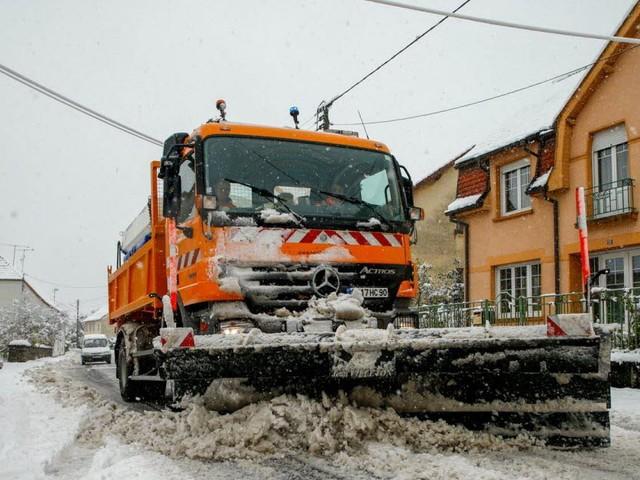 Une belle couche de neige sur les routes de Giromagny et Lepuix