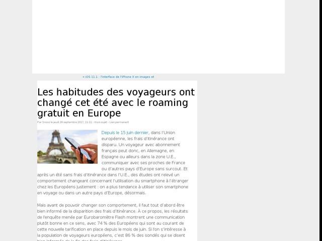 Les habitudes des voyageurs ont changé cet été avec le roaming gratuit en Europe