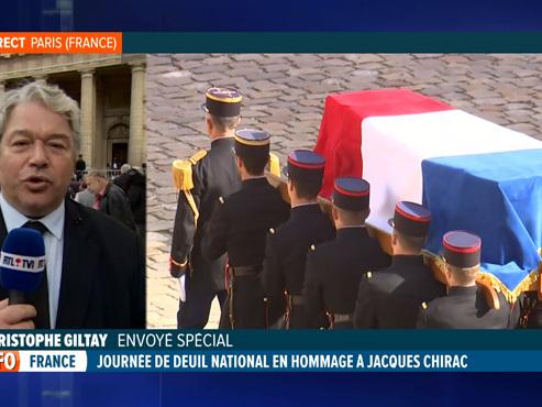 Funérailles du président Jacques Chirac: des milliers de personnes, dont des Belges, pour lui rendre hommage (vidéo)