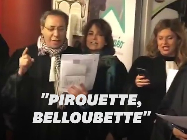 Réforme des retraites: les avocats protestent en chanson