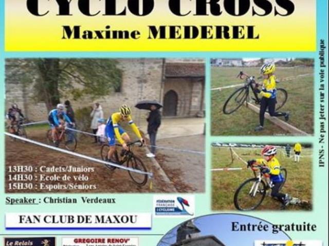 Les engagés du cyclo-cross de Chaptelat (87) - Samedi 19 Octobre 2019 Cyclo-cross de Chaptelat , organisé par le fan-club de Maxime Méderel avec le concours de l'UV Limousine Speaker: Christian Verdeaux Départs : Cadets-juniors 13 heure 30′ Ecoles de vélo 14 heure 30′ Espoirs-séniors 15 heure 30′ Les engagés, source FFC Juniors, espoirs, séniors ... - (Sud Gironde - CYCLISME)