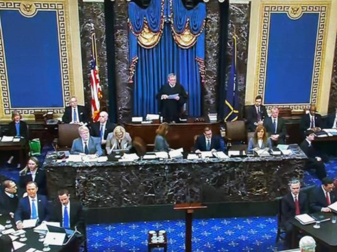 Destitution de Trump: au Sénat américain, un procès sans la justice