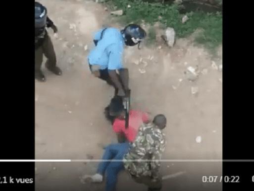 Kenya: la vidéo d'un étudiant violenté par des policiers crée la polémique!