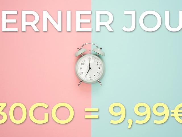 Dernier jour de la promo forfait valable à vie de La Poste Mobile à 9,99€/mois !