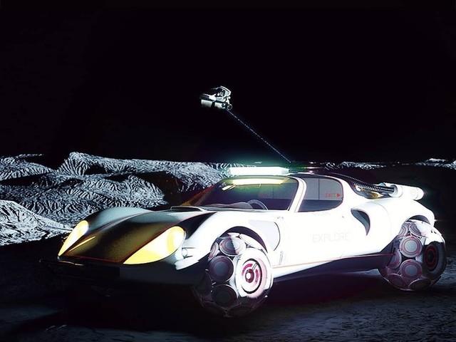 L'Alfa Romeo 33 Stradale imaginée en véhicule lunaire