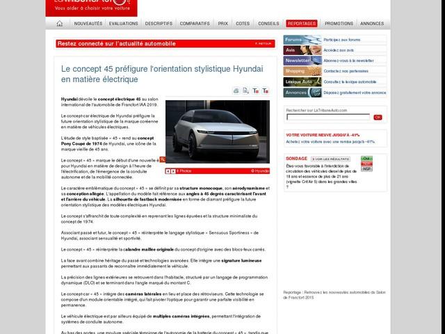 Le concept 45 préfigure l'orientation stylistique Hyundai en matière électrique