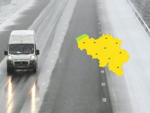 La Belgique placée en alerte jaune par l'IRM: du verglas, de la pluie et des rafales de vents ce mardi, voici les prévisions météo région par région
