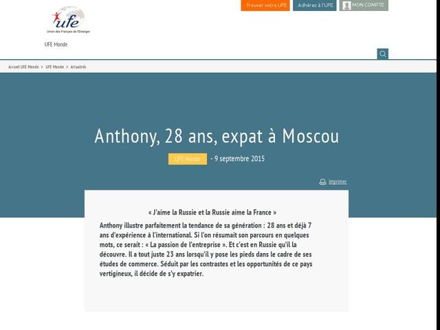 Anthony, 28 ans, expat à Moscou
