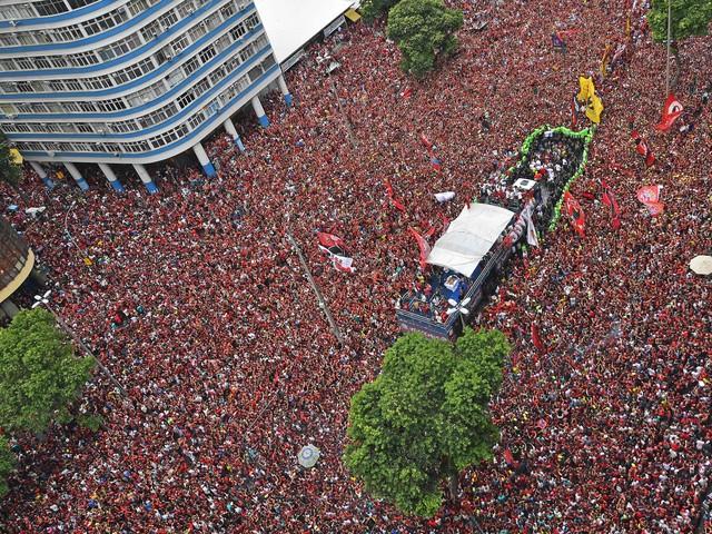 Football - Etranger - Copa Libertadores : la folie à Rio pour le retour des joueurs de Flamengo