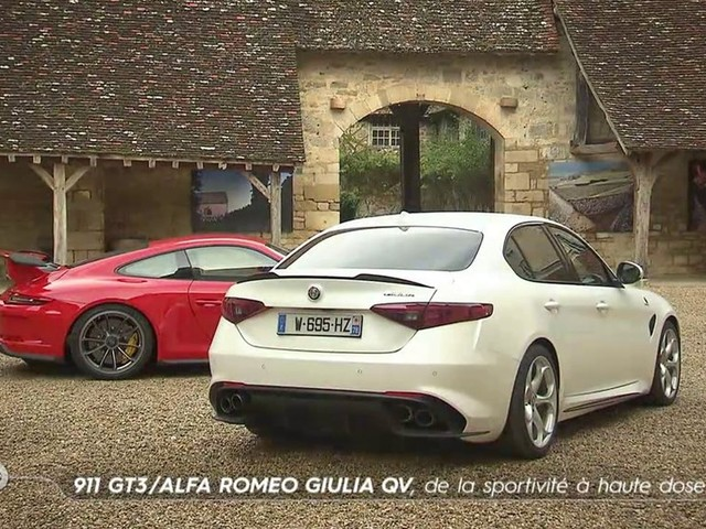 911 GT3 / Alfa Romeo Giulia QV, de la sportivité à haute dose - Emission TURBO du 14/01/2018