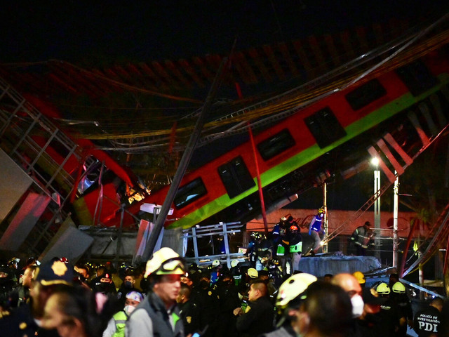 Mexico: au moins 20 morts dans l'effondrement d'un pont lors du passage d'un métro