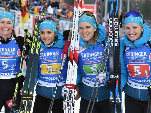 Biathlon: La France 2e du relais dames à Ruhpolding, la Norvège invincible
