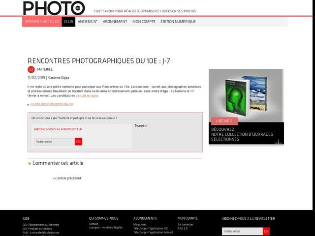 Rencontres photographiques du 10e : J-7