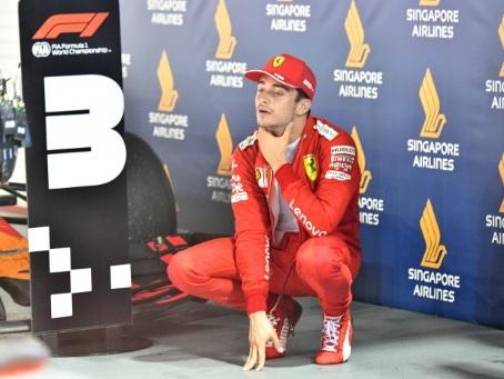 """F1: Leclerc """"regrette"""" son énervement lors du GP de Singapour"""