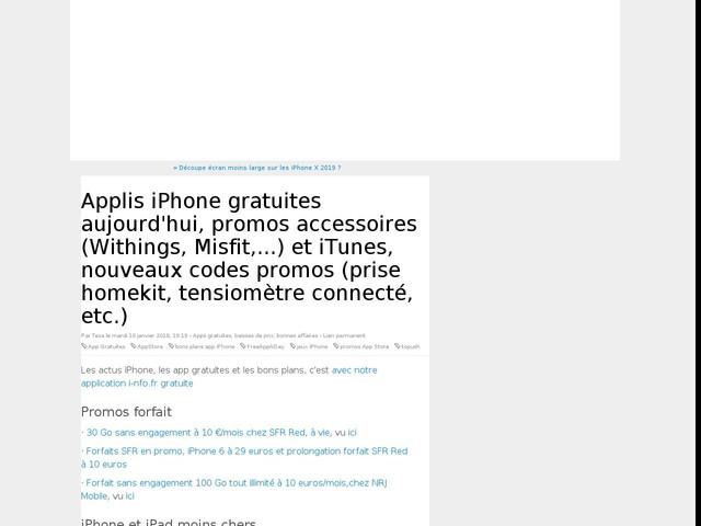 Applis iPhone gratuites aujourd'hui, promos accessoires (Withings, Misfit,...) et iTunes, nouveaux codes promos (prise homekit, tensiomètre connecté, etc.)