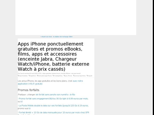 Apps iPhone ponctuellement gratuites et promos eBooks, films, apps et accessoires (enceinte Jabra, Chargeur Watch/iPhone, batterie externe Watch à prix cassés)
