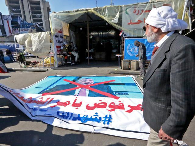 En Irak, les campements de manifestants divisés sur le Premier ministre désigné