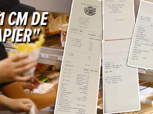 """""""71 cm de papier!"""": Johnny choqué par la longueur des tickets de caisse au Burger King"""