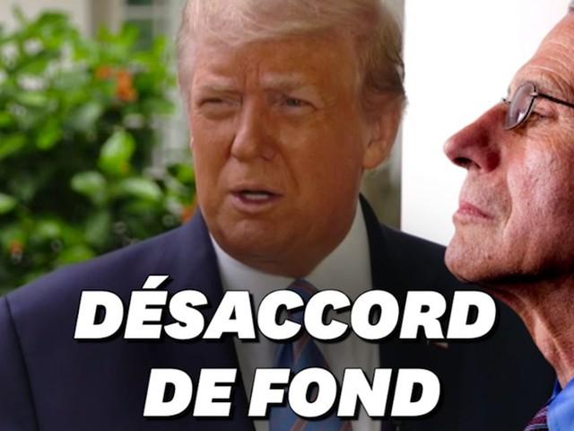 """Covid-19: Trump """"pas d'accord"""" avec l'analyse du Dr. Fauci"""