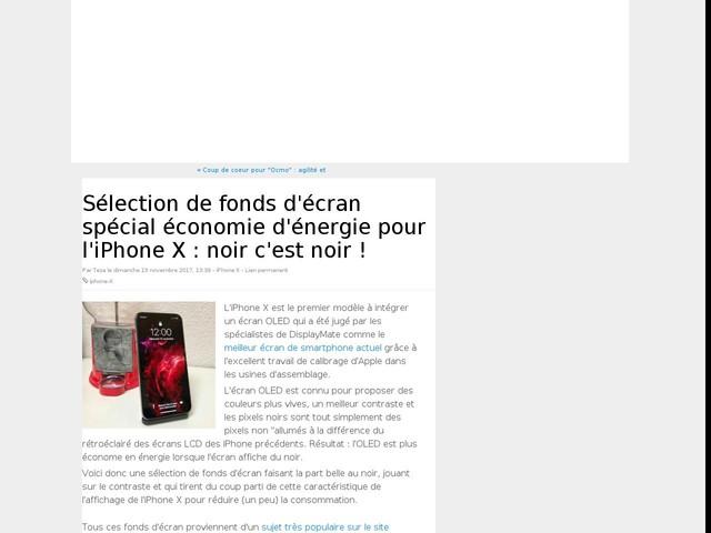 Sélection de fonds d'écran spécial économie d'énergie pour l'iPhone X : noir c'est noir !
