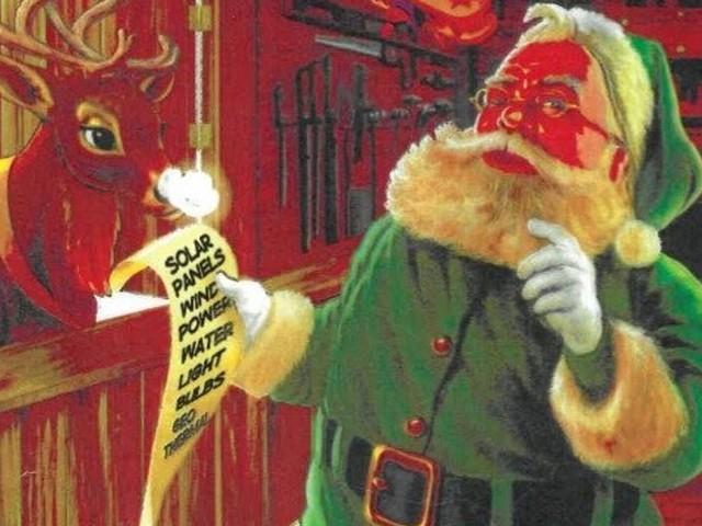 Le Père Noël écolo d'un spectacle scolaire provoque un tollé dans une ville canadienne