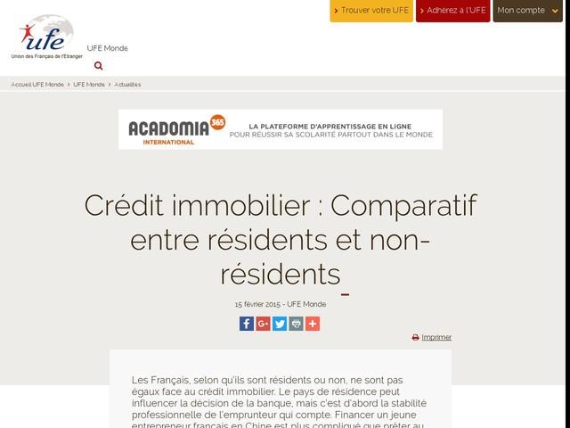 Crédit immobilier : Comparatif entre résidents et non-résidents