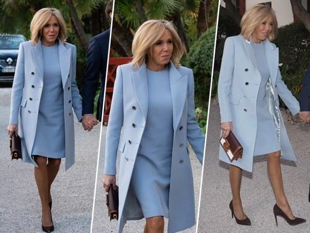 Brigitte Macron : absolument sublime en total look bleu, elle met tout le monde d'accord !