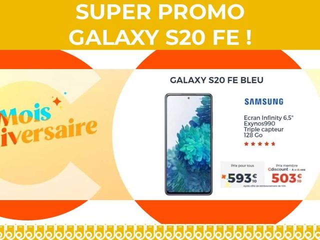 Profitez d'une super promo sur le Galaxy S20 FE chez Cdiscount !