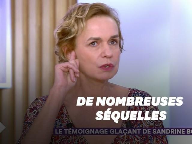 Émue, Sandrine Bonnaire parle de ses séquelles, 20 ans après s'être fait agresser par son compagnon
