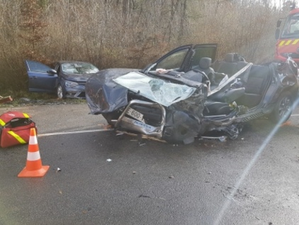 Cinq blessés dont deux graves dans une collision frontale sur la RD474