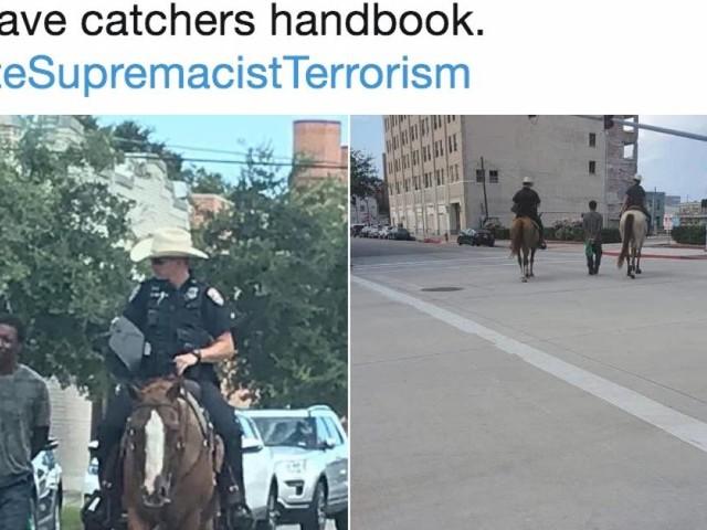 Texas : La photo de deux policiers à cheval tirant un homme noir par une corde provoque la colère des internautes