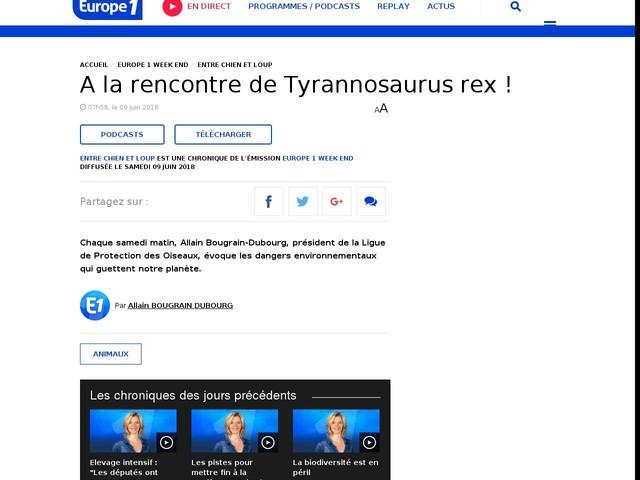 A la rencontre de Tyrannosaurus rex !
