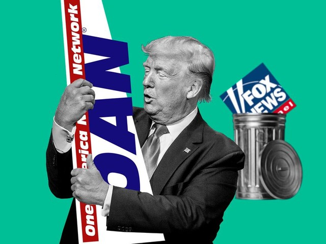 Fini Fox News, Trump préfère OAN, sombre chaîne d'extrême droite