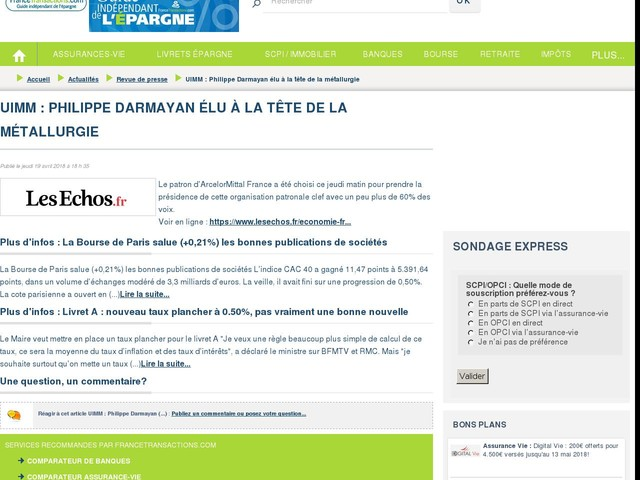 UIMM : Philippe Darmayan élu à la tête de la métallurgie