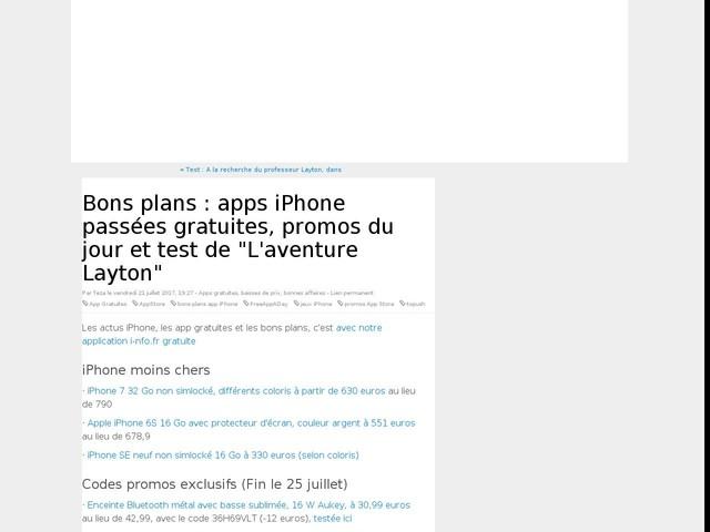 """Bons plans : apps iPhone passées gratuites, promos du jour et test de """"L'aventure Layton"""""""