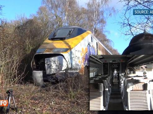 """Il découvre un Eurostar à l'abandon en pleine forêt: """"Il y a encore les magazines, on a l'impression que tous les voyageurs ont disparu d'un coup"""" (vidéo)"""