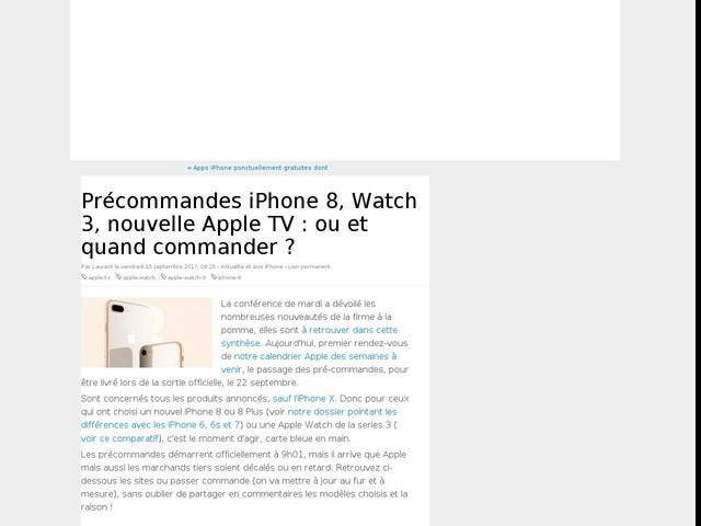 Précommandes iPhone 8, Watch 3, nouvelle Apple TV : ou et quand commander ?