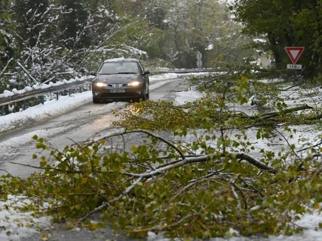 La neige abondante perturbe circulation et réseau électrique en Rhône-Alpes