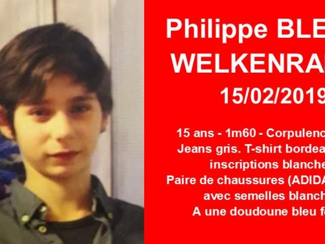 Appel à témoins: Philippe, 15 ans de Welkenraedt, a disparu