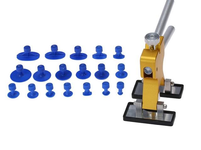 Machine à debosser avec 18 embouts pour tous types de bosses sur carrosseries peintes.