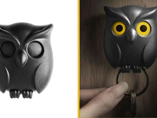 [TOPITRUC] Un porte-clef mural hibou, qui ouvre les yeux quand on suspend les clefs