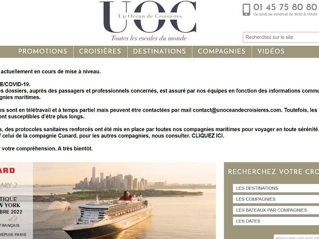 Un Océan de Croisières invite les agents de voyages à des webinaires