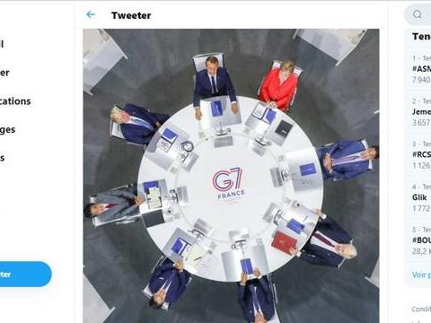 Cette photo emblématique du G7 fait déjà beaucoup réagir sur les réseaux sociaux