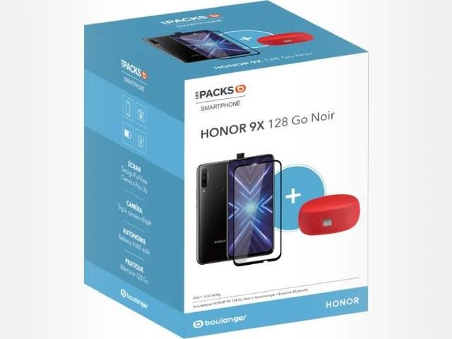Le Honor 9X avec enceinte et verre trempé pas cher à 249€