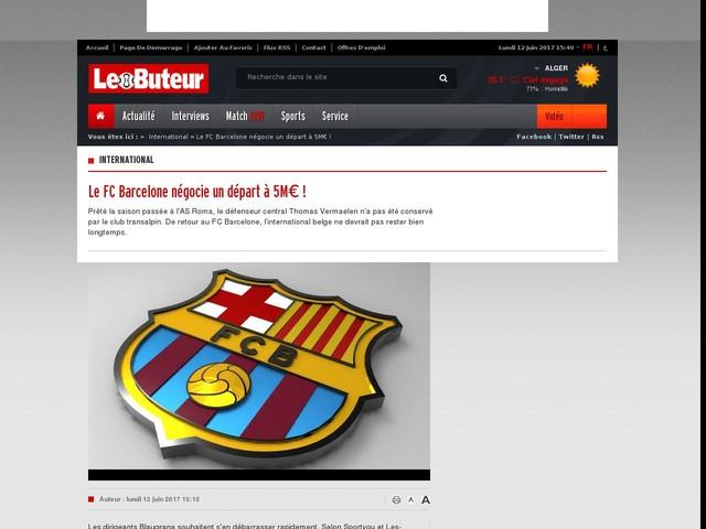 Le FC Barcelone négocie un départ à 5M€ !