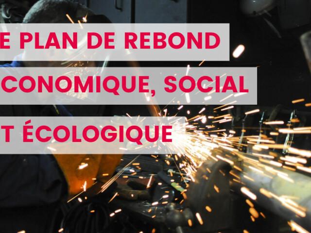 « Pour un rebond économique, social et écologique »   Le plan de relance du Parti socialiste