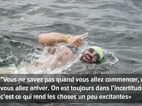 """François, un Carolo, a réussi le pari fou de nager 25 km entre le Danemark et l'Allemagne: """"Il faut oser se lancer dans l'inconnu"""""""